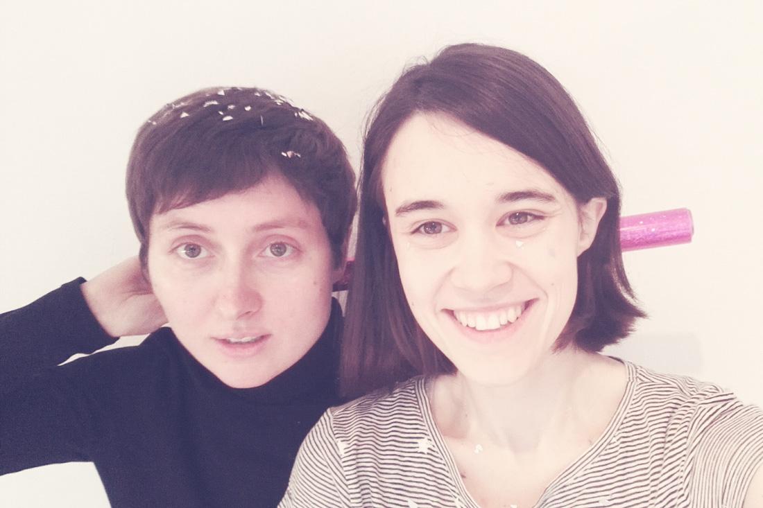 Auf diesem Bild sieht man das Team von pinkmitglitzer Mareen Welters und Ann-Kathrin Großhammer