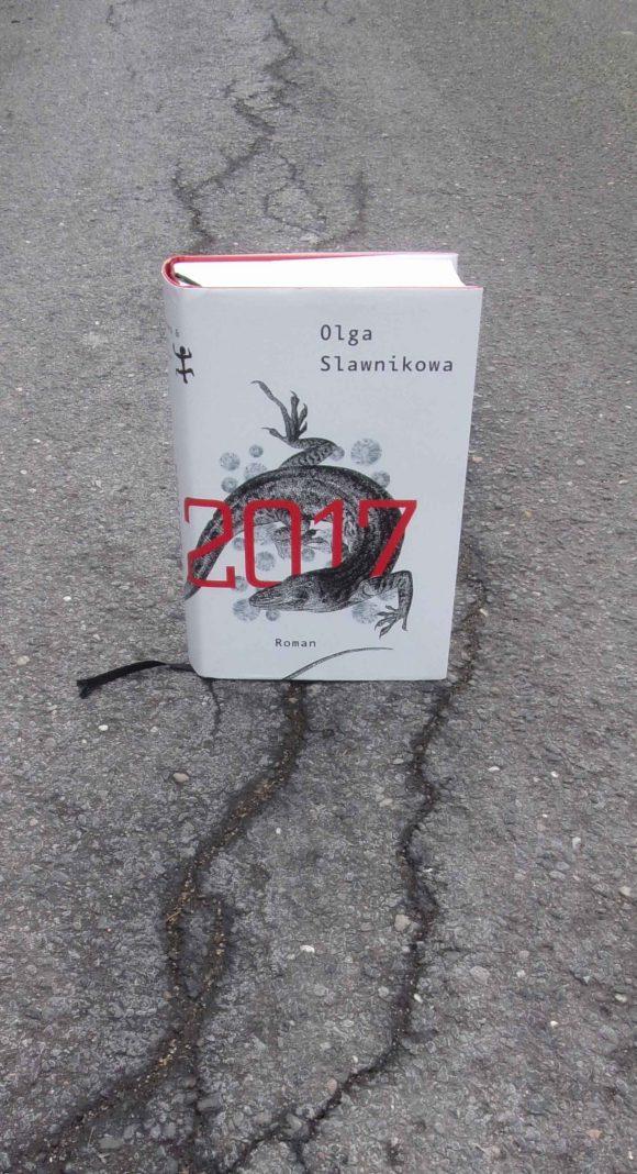 """Dieses Bild zeigt das Cover des Romans """"2017"""" von Olga Slawnikowa."""