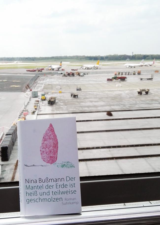 """Dieses Bild zeigt das Cover von Nina Bußmanns Roman """"Der Mantel der Erde ist heiß und teilweise geschmolzen."""""""