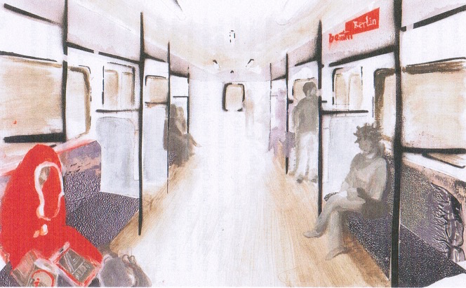 "Illustration in ""Synchronicity"" von Sita Ngoumou, S. 158."