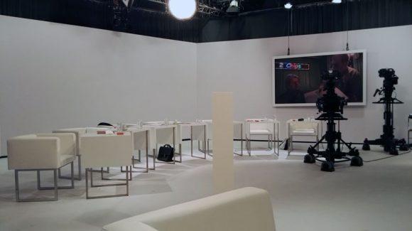 Dieses Bild zeigt eine Innenansicht aus dem ORF Studio in Klagenfurt.