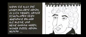 """Das Bild ist der zweiten Graphic Novel """"Umgedrehter Hahnenkamm"""" aus """"der Ursprung der Welt"""" von Liv Strömquist entnommen."""