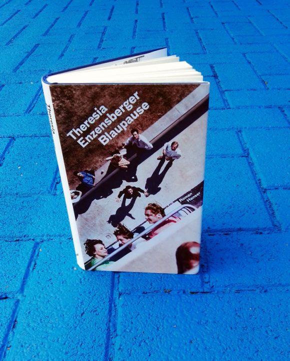 """Dieses Bild zeigt das Cover von Theresia Enzensbergers Roman """"Blaupause""""."""